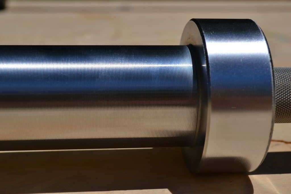 Polished chrome sleeve on a boneyard bar from Rogue