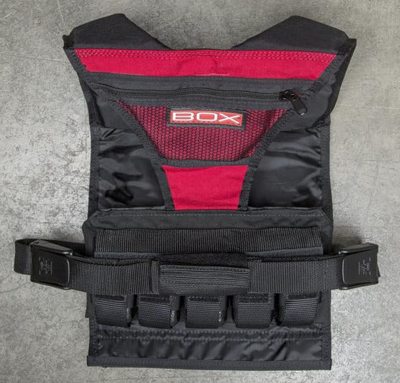 "Designed to allow for ease in breathing and mobility, the weighted plates are evenly distributed - front and back. The sides of the vest are open to prevent chaffing and to aid in cooling. The vest comes equipped with Box's ""Stay Fresh"" liner which means you won't have to wash the fabric after use. The vest spans your entire shoulder, minimizing movement and improving comfort."