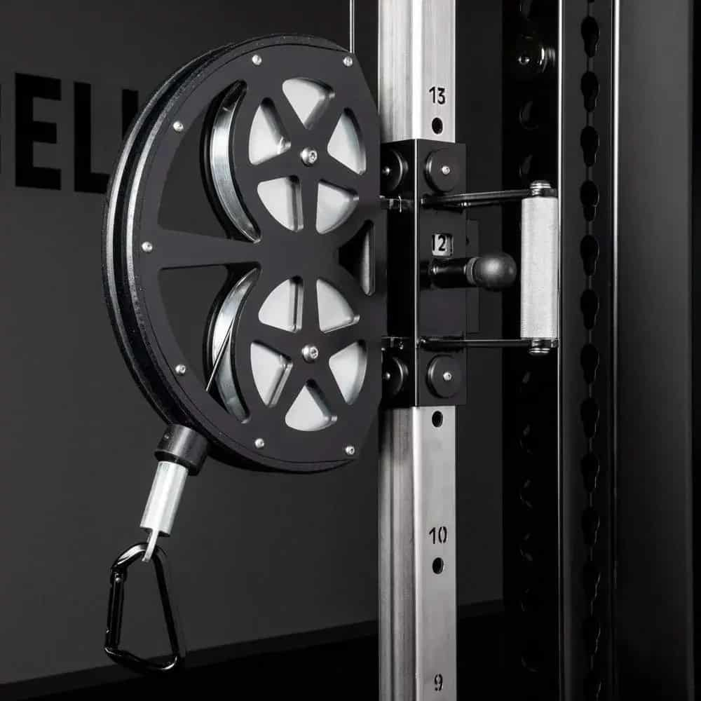 The height adjustable pulley on the CT-1 has 16 different heights from low to high.