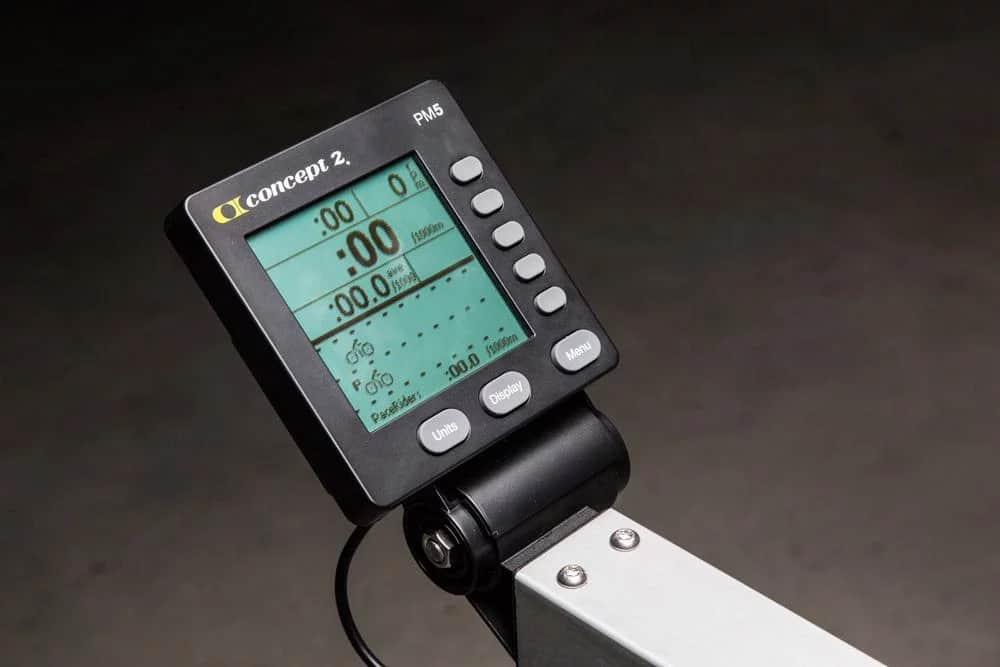 The PM5 Electronic Monitor on the Concept2 BikeErg