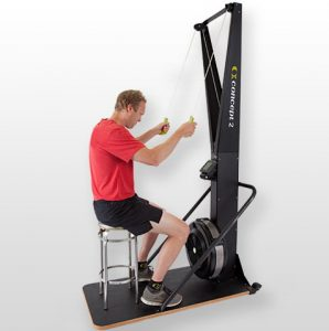 Adaptive exercise is possible with the Concept2 SkiErg