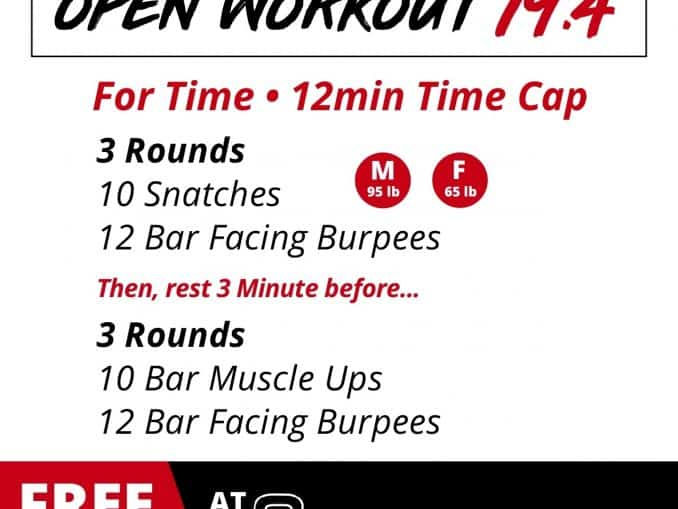 CrossFit Open Workout 19.4 Strategy Guide