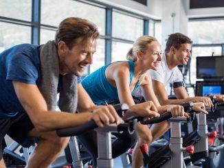 Exercise at the gym - biking