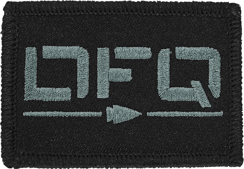 GORUCK DFQ velcro patch for rucksacks.  What does DFQ mean?  Do Not Quit.