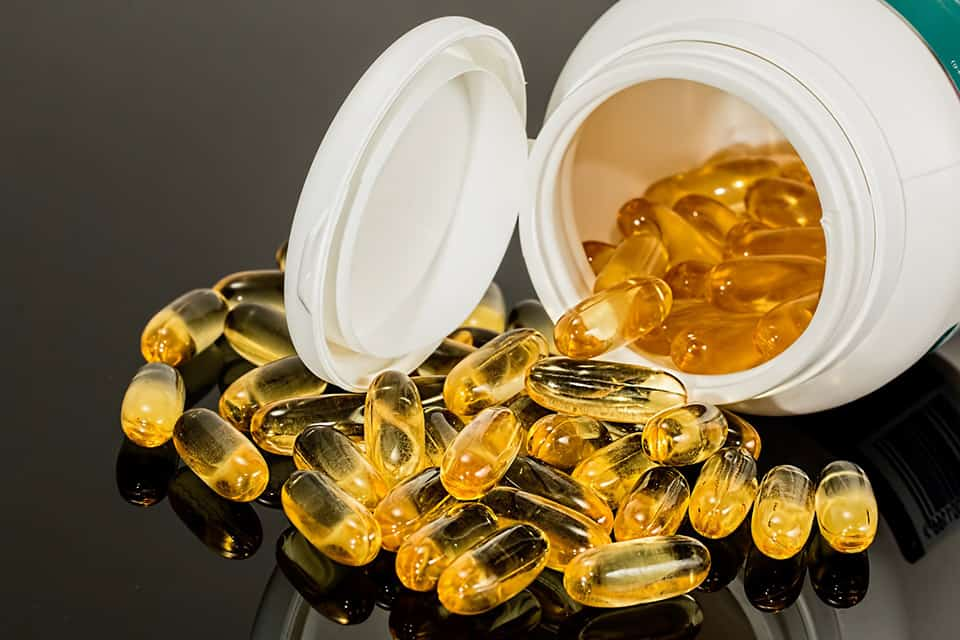 Fish oil supplement - source of omega-3 fatty acids