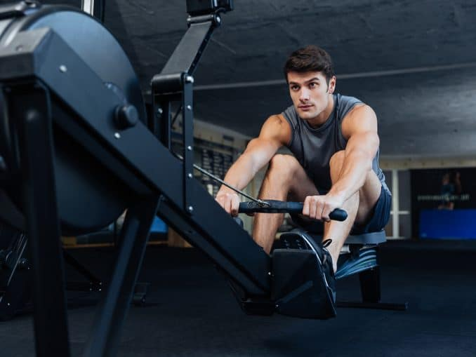 An indoor rower such as the Concept2 Model D Rower is an excellent way to get a low-impact, full body workout. Concept2 rowers are very popular in CrossFit WODs.