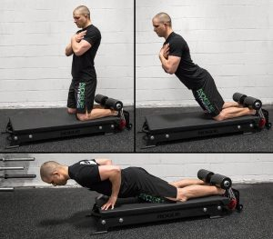 Rogue Fitness Glute Floor device - a good alternative to a bulky, full-size GHD (Glute Ham Device)