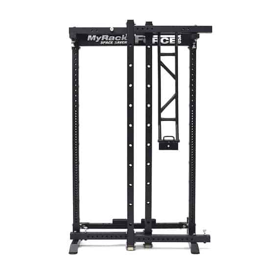 MyRack Folding Power Rack - fully folded