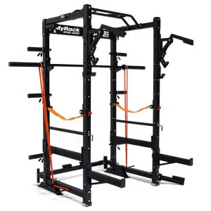 The Force USA MyRack folding power rack has a plethora of available attachments.
