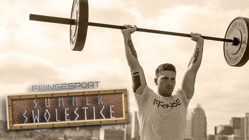 Fringe sports Summer Swolestice sale will be July 16th - July 23rd, 2018 and will include some crazy steep discounts on great functional fitness equipment such as barbells, weights, and much, much more.
