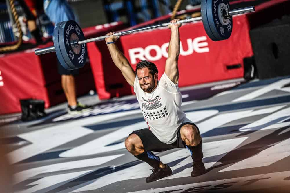 Rich Froning using Rogue Olympic WL bar.