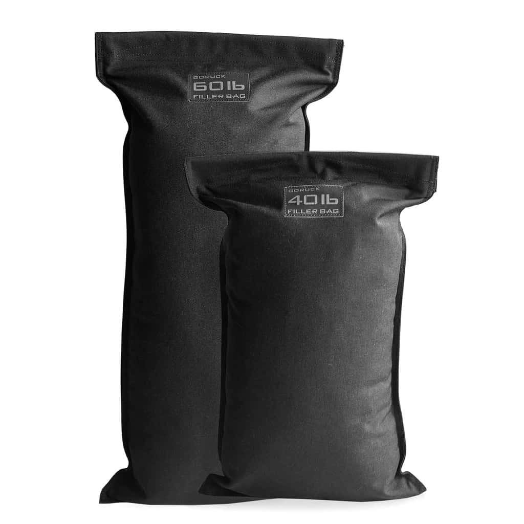 GORUCK filler bags for sandbags - always use a filler bag with your GORUCK sandbag to avoid damaging the zipper.