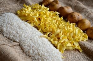 High Glycemic Index (GI) foods - white rice, pasta, and potatoes
