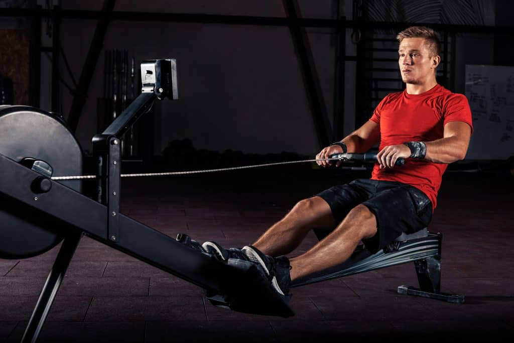 Concept2 Rower breaks down into two pieces.
