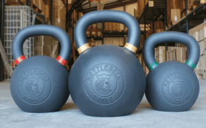 "Kettlebell Kings are Kettlebell specialists - ""The Kings"" set is a kettlebell set that includes 3 different sized kettlebells of excellent quality."