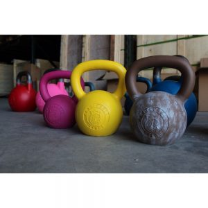 Kettlebell Kings has kettlebells with Cerakote - a durable, tough ceramic polymer coating that lets you choose from a range of colors and patterns.  These are the best looking kettlebells around!