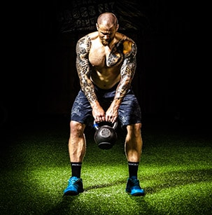 "Kettlebell swing - a great ""hip hinge"" movement"