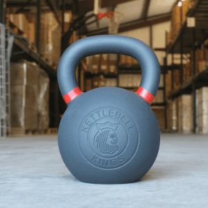 Kettlebell Kings - 32kg / 70 lbs Kettlebell front showing the logo. Premium quality kettle bells