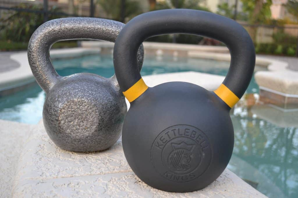 Kettlebell kings awesome embossed logo vs walmart not awesome flat spot