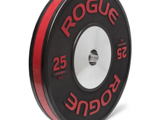 Manufactured to the same high standard as our Rogue Competition Plates, these KG bumpers feature an all-black, gloss-matte-gloss finish and a unique, color-coded rubber stripe that wraps around the full perimeter of each plate. That stripe, along with raised, color-coded lettering on the face of the plate, allows for quick visual weight identification from any direction or distance.