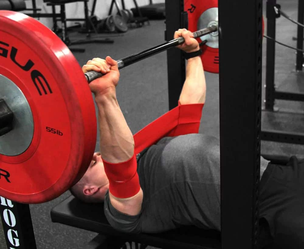 Mark Bell's Slingshot bench press assistance device