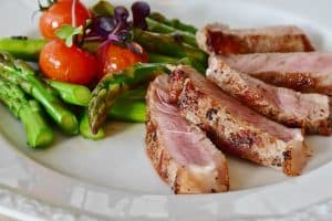 Meat and vegetables - are a paleo friendly food combination