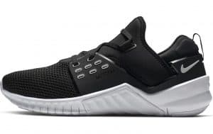 Nike Free X Metcon 2 training shoe in black and white