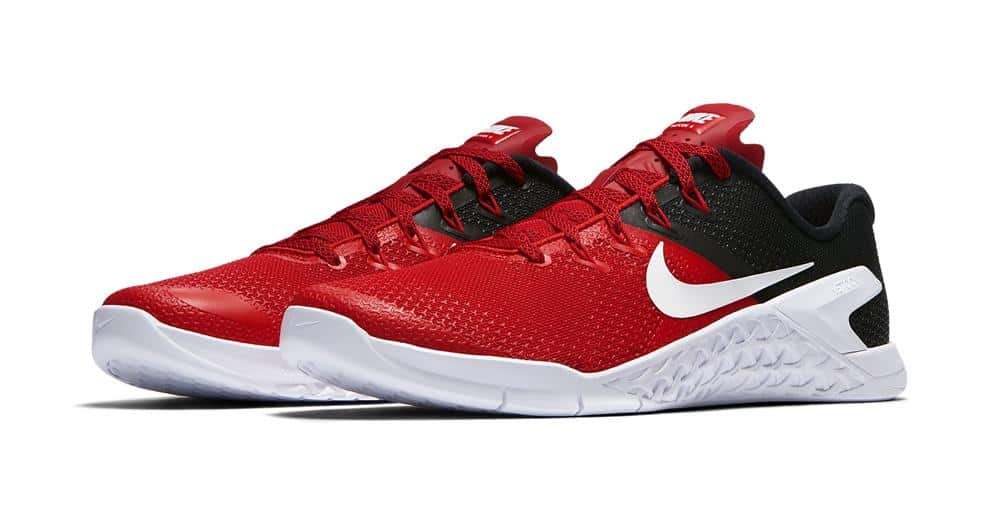 74616e34dd7 NIke Metcon 4 - the best CrossFit Training Shoe - shown here in University  Red and ...
