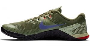 Nike Metcon 4 - in Olive Canvas / Indigo Burst-Black color combination - the best looking CrossFit training shoe.