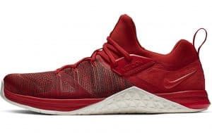 Nike Metcon Flyknit 3 in MYSTIC RED / SAIL-RED ORBIT