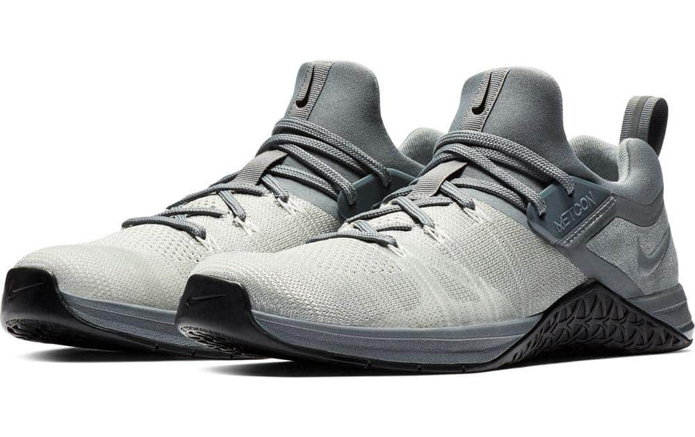 Nike Metcon Flyknit 3 Mens - Cool Gray / Black colorway.