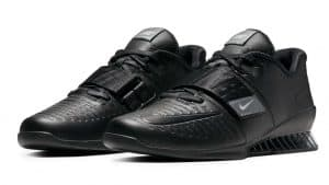 Nike's lifters in black/black