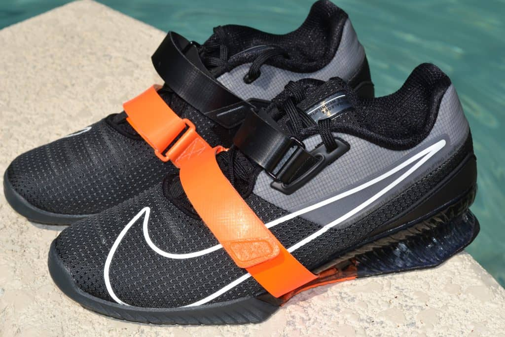 Nike Romaleos 4 - Black/Orange Side View