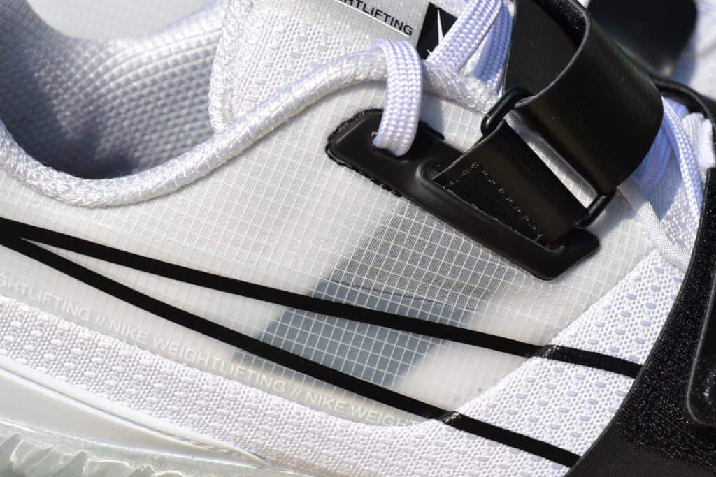 Nike Romaleos 4 - White - Laces closeup