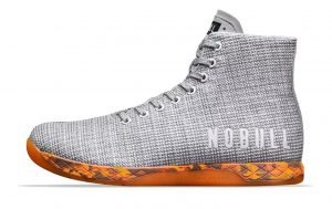 NOBULL HIGH-TOP TRAINER  in WHITE HEATHER ORANGE