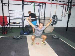 One of two contested olympic lifts - the snatch