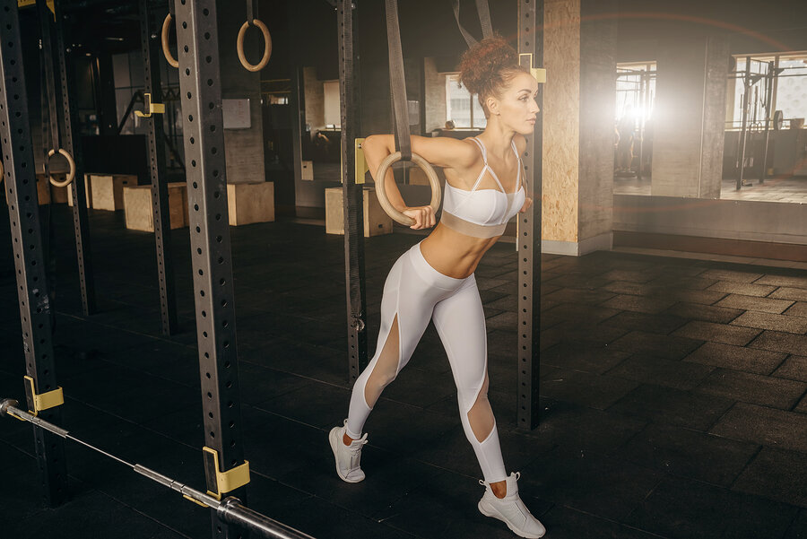 Olympic or gymnastic rings are also popular in CrossFit style workouts.