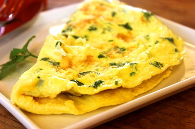 An omelette can be part of the ketogenic diet - it's low carb, high fat and protein content fits within the guidelines for ketosis