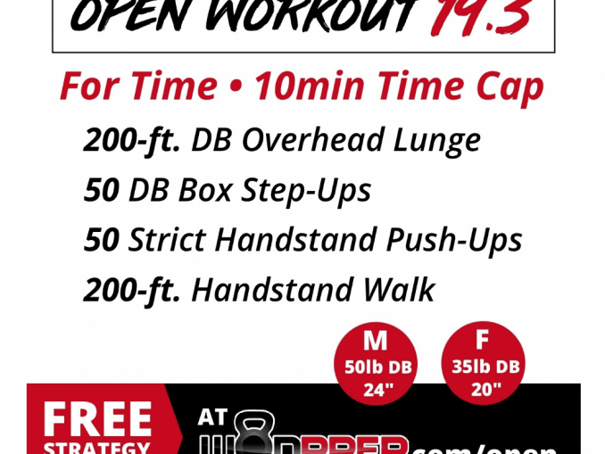 CrossFit Open Workout 19.3 Strategy Guide from WodPrep.com