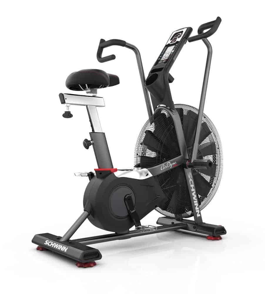 Schwinn Airdyne Pro Air Bike - Quarter View from Floor