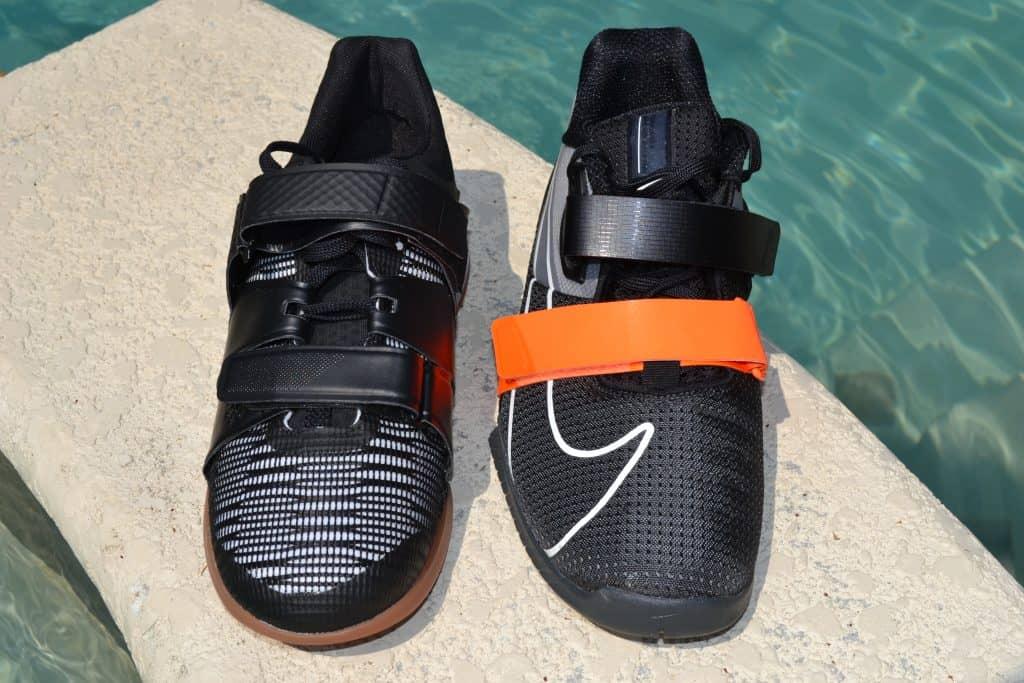 Reebok Legacy Lifter versus Nike Romaleos 4 - Top View