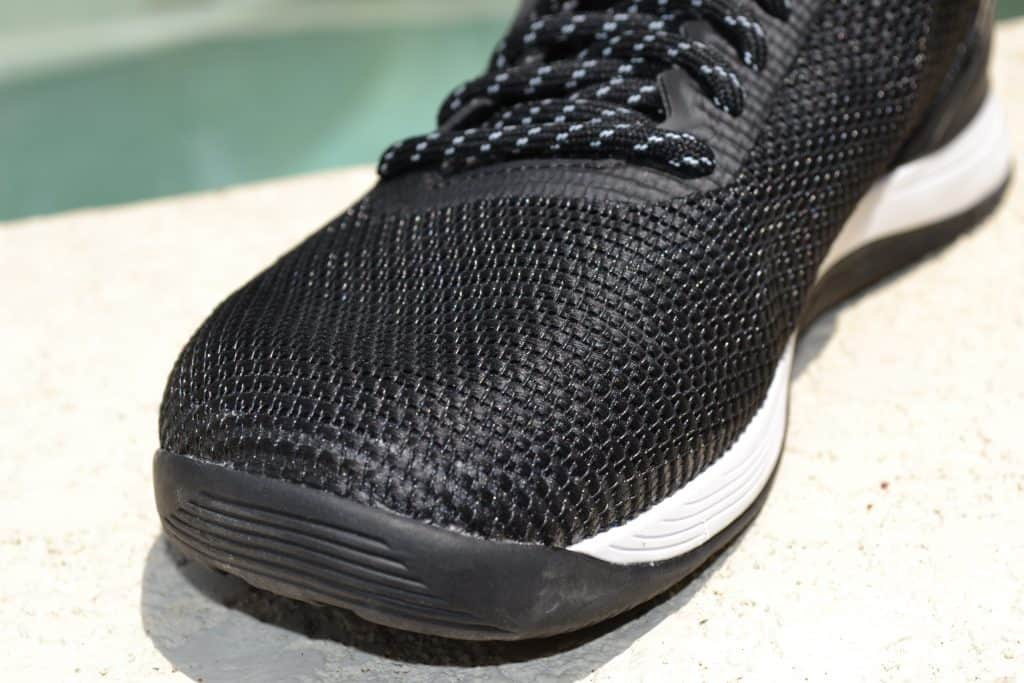 Close-up of the Flexweave material that is used for the upper on the Reebok Nano 8