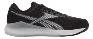 Reebok CrossFit Nano 9 - Black and White - Mens - Wrap your foot in the all new seamless STRETCH Flexweave for better fit and hold. Gain runability with cushion added to the forefoot while your CrossFit specific outsole and MetaSplit grooves bring even more grip in your CrossFit Nano 9.