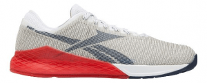 Reebok CrossFit Nano 9 - Grey and Red - Mens - Wrap your foot in the all new seamless STRETCH Flexweave for better fit and hold. Gain runability with cushion added to the forefoot while your CrossFit specific outsole and MetaSplit grooves bring even more grip in your CrossFit Nano 9.