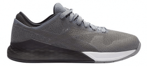 Reebok CrossFit Nano 9 - Grey - Mens - Wrap your foot in the all new seamless STRETCH Flexweave for better fit and hold. Gain runability with cushion added to the forefoot while your CrossFit specific outsole and MetaSplit grooves bring even more grip in your CrossFit Nano 9.