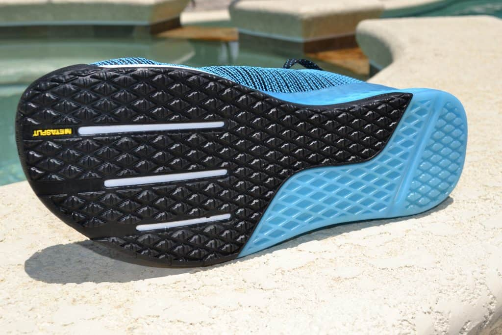 The Metasplit grooves help ensure forefoot flexibility - which is great for running, jumping, and double unders.