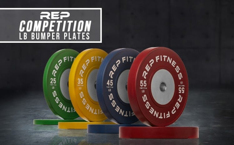 Rep Competition Bumper Plates - Lbs