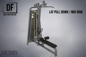 Rep Fitness Lat Pull-Down/Mid-Row Dual Function commercial machine