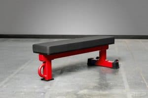 The Rep FB-5000 bench is made from 11 gauge steel and is rated to 1,000 lbs - but has a lot of great features like three post design, wheels, and available in a choice of colors.