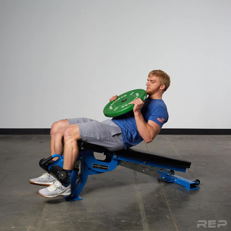 AB-3000 Adjustable bench in use.
